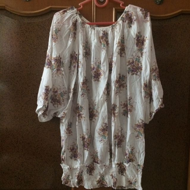 Batwing Floral All Size fit to XL