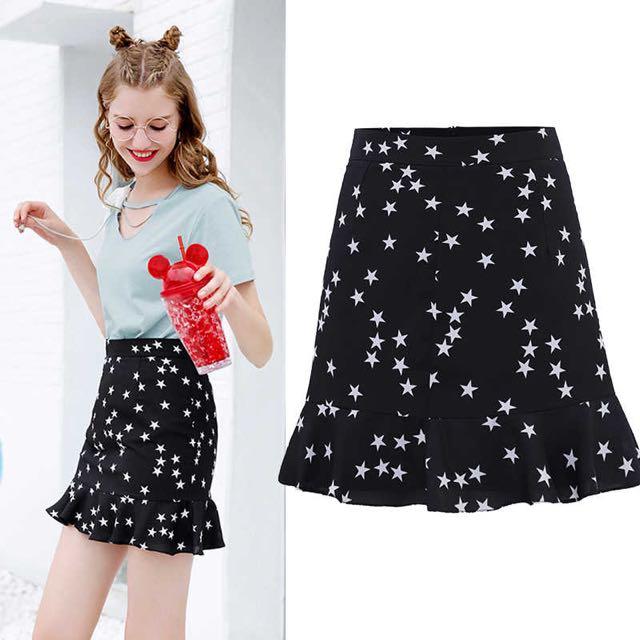 Black star skirt