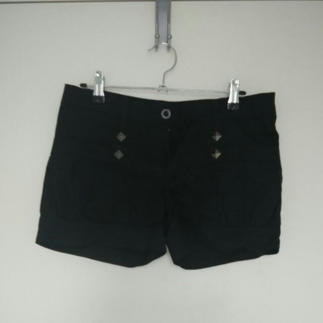 Black Summer Shorts Size S
