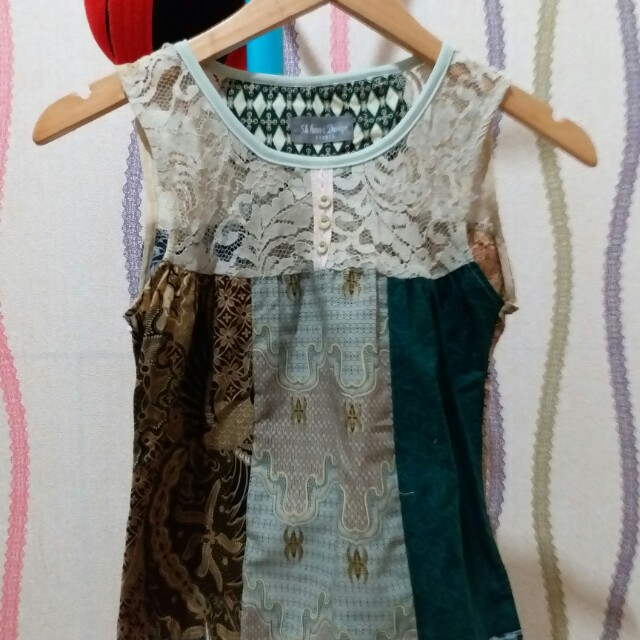 blouse batik unik u can see