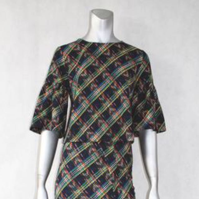 Blouse with Trumpet Sleeve