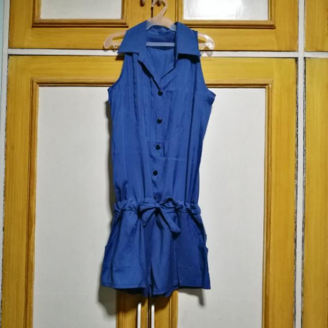 Blue Halter Romper