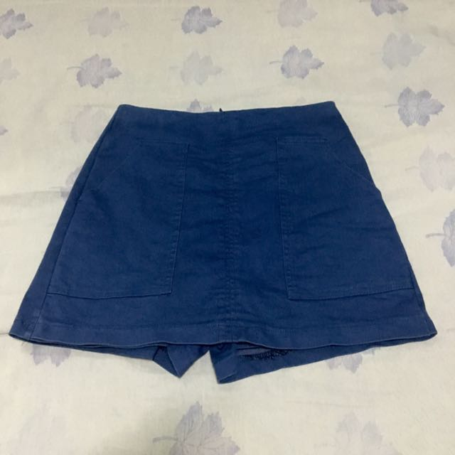 Blue Korean Skort