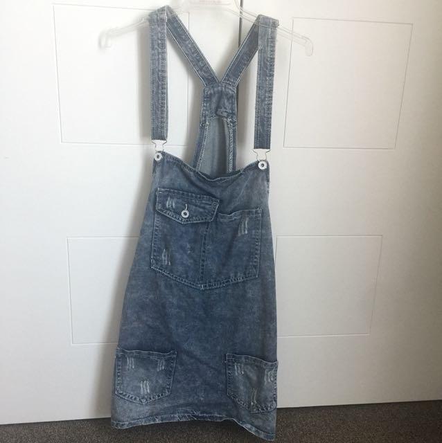blue skirt half new