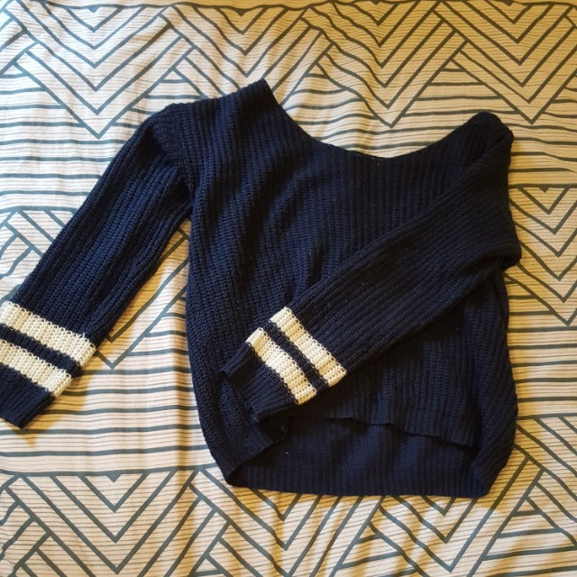 Blue/white striped sweater