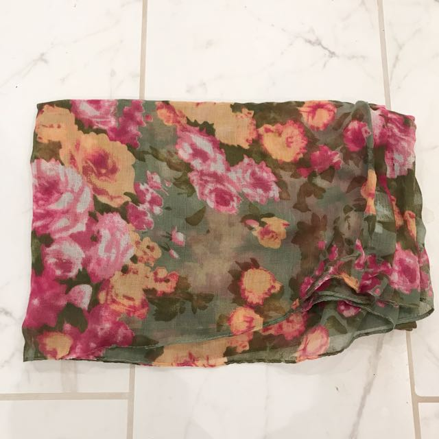 Call It Spring Floral Scarf