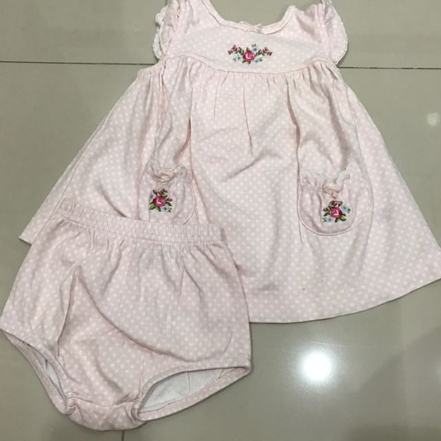 Carters Polka Baby Dress 9m