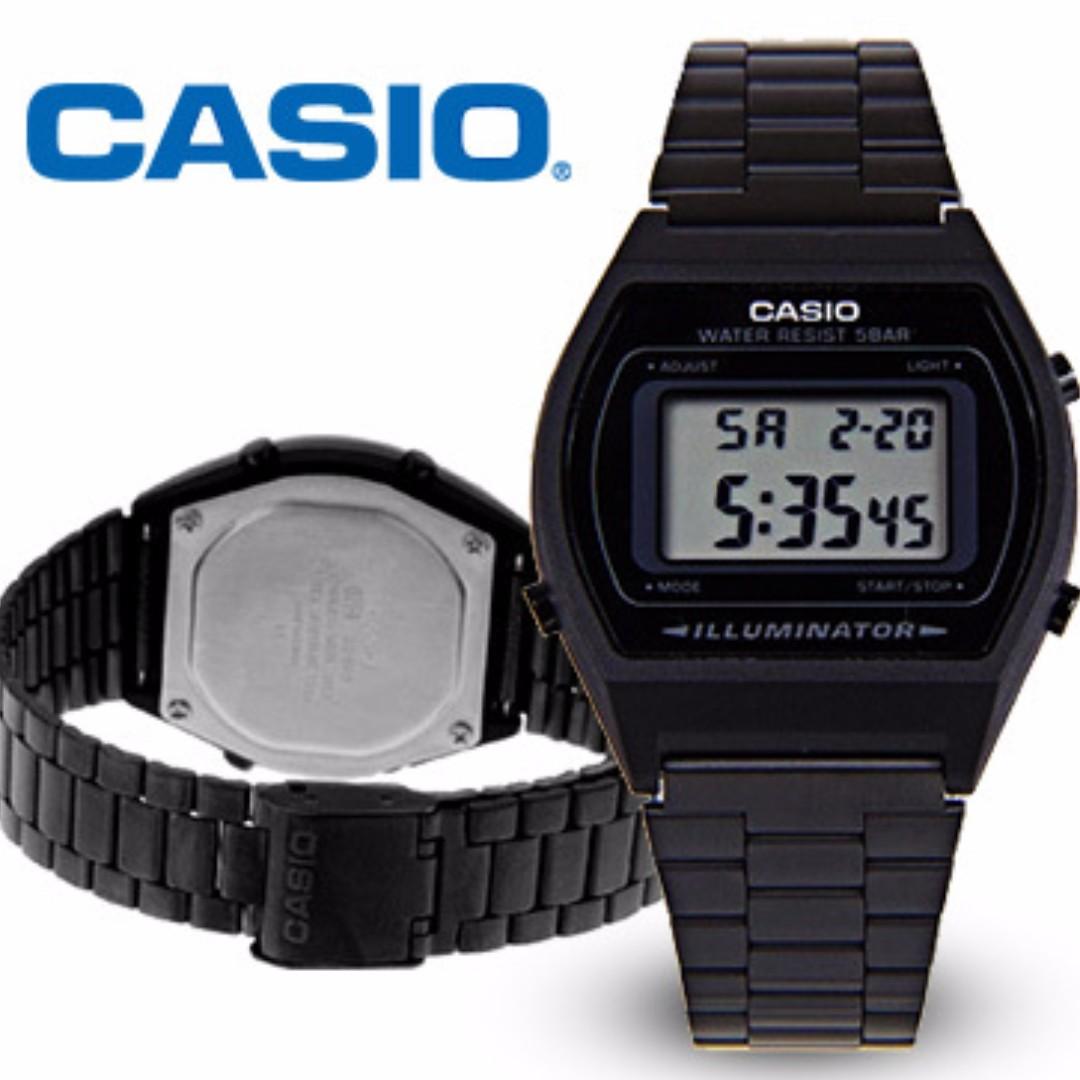 b4ea14a05644 Casio Retro Vintage Digital Dress Watch B640WB-1A B640 B640WB Black IP  Unisex Watch   High Demand x limited Stocks