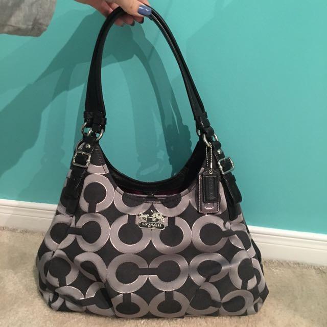 Coach black and grey handbag