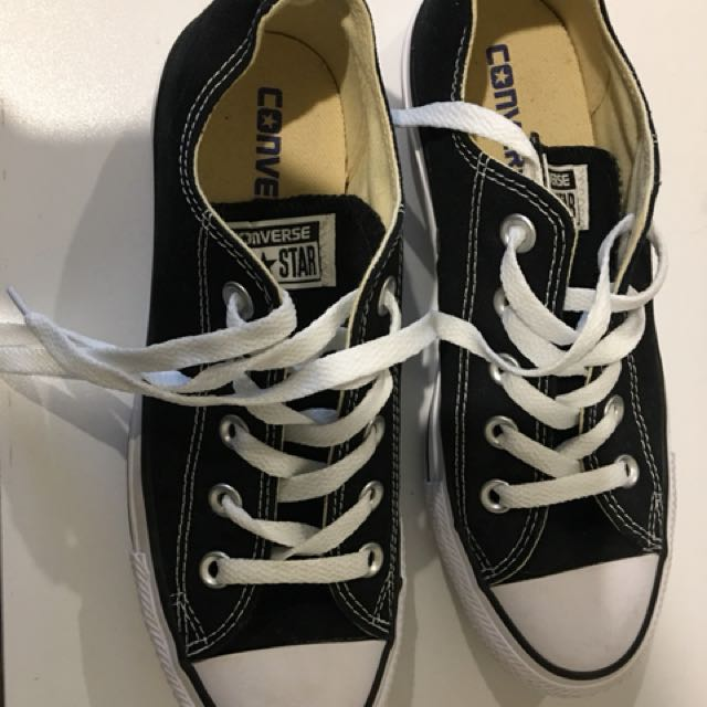 Converse Black And White BNWOT OR BOX