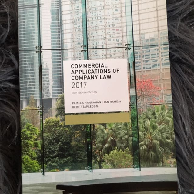 Corporate law book Commercial Applications of company law 2017  Eighteenth Editions   Brand New