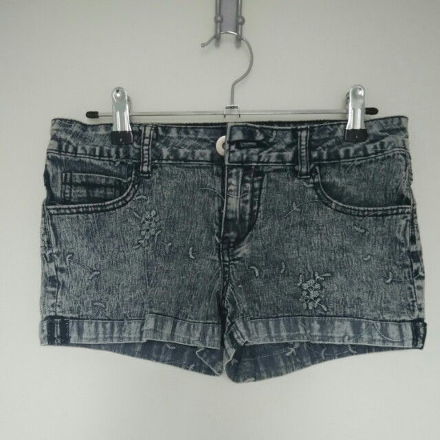 Denim Faded Shorts Size 8