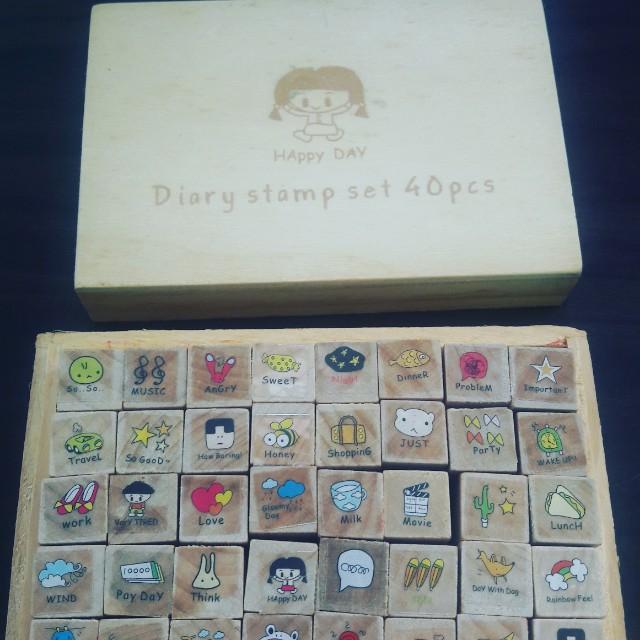 Diary stamp set