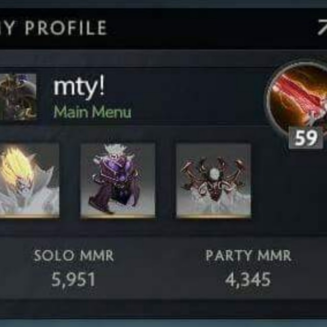 Dota 2 account with csgo and high MMR