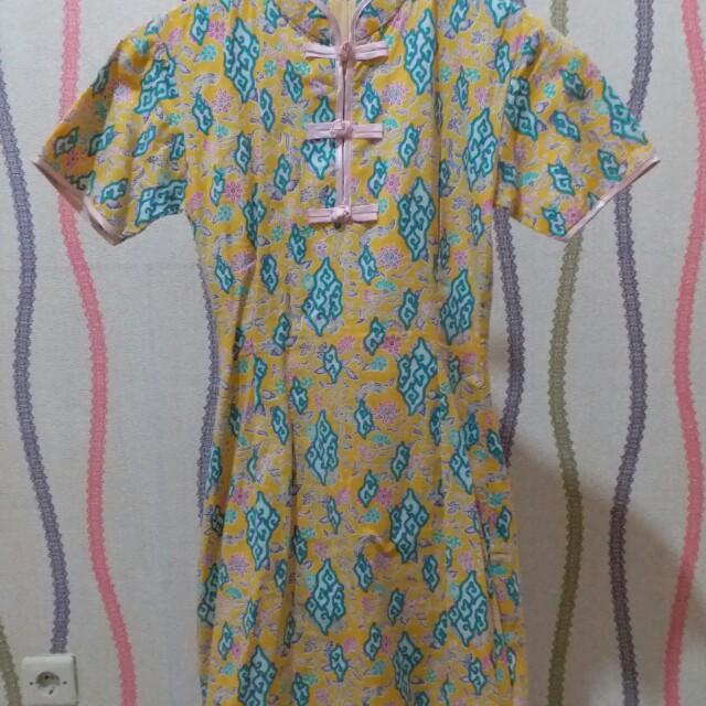 dress batik cheongsam sanghai