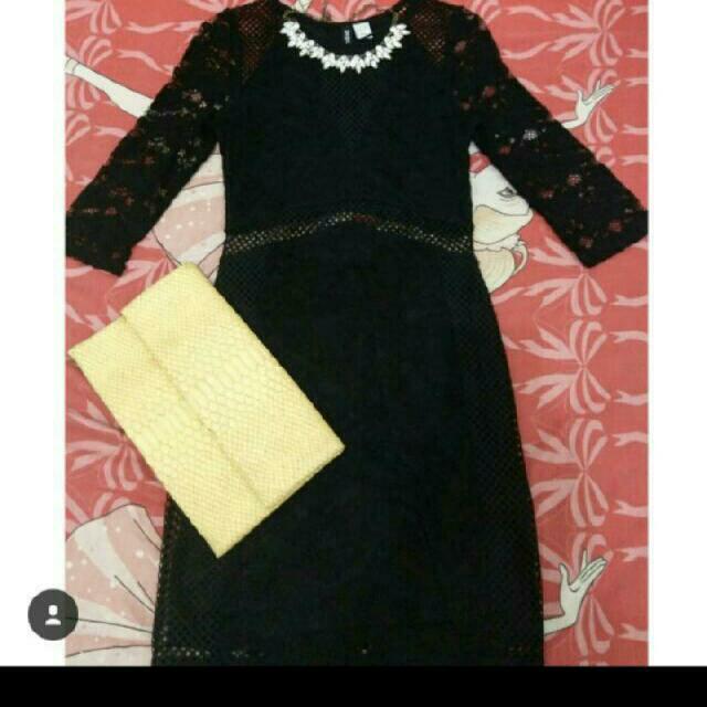 dress H&M DIVIDEN BLACK