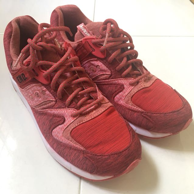 927666fa3119 End x Saucony Grid 9000  Red Noise
