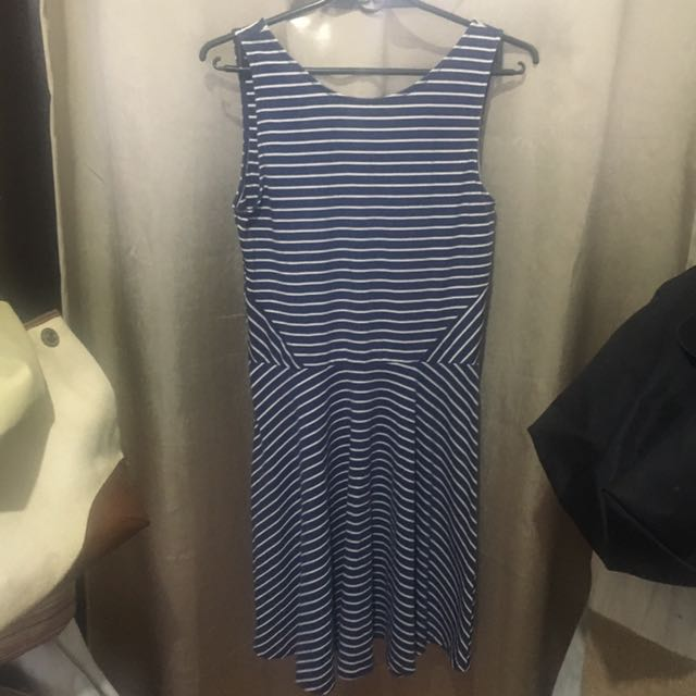 Factorie Blue&White Stripes Dress