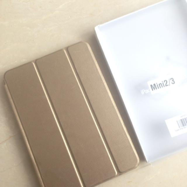 flip case gold ipad 2/3 mini