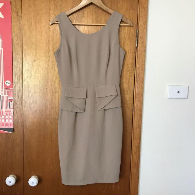 Forcast beige dress office/formal size 10