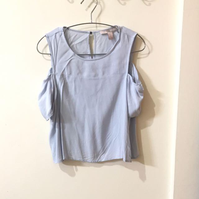 FOREVER 21 Light Blue Shirt