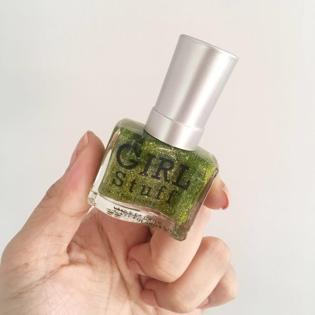 Girl Stuff Green Glitter Nail Polish