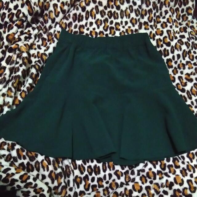 Green Flute Skirt