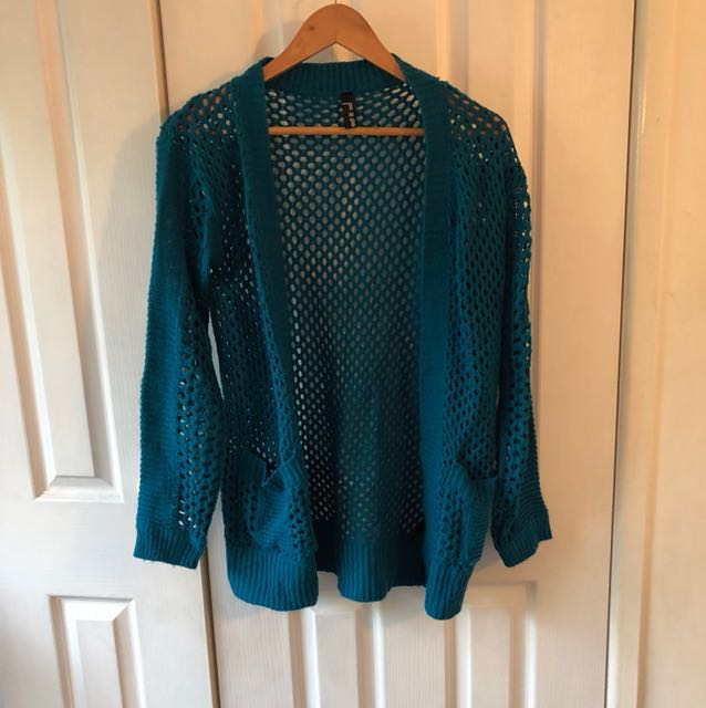 Green/blue knit jumper