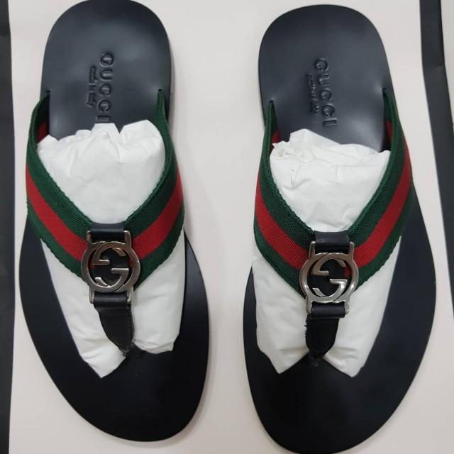 410bba3a853e GUCCI web Strap Thong Sandal