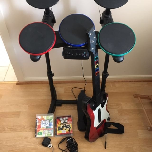 Guitar And Drum Kit For PlayStation 2 Or 3