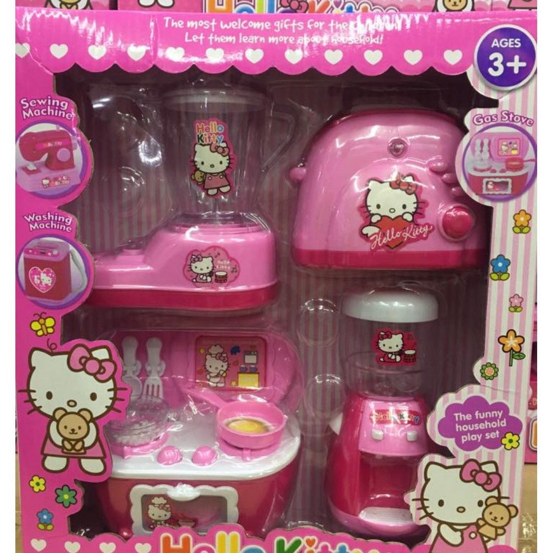 Hello Kitty Kitchen Accessories: Hello Kitty Toy Appliances And Kitchen Set, Toys & Games