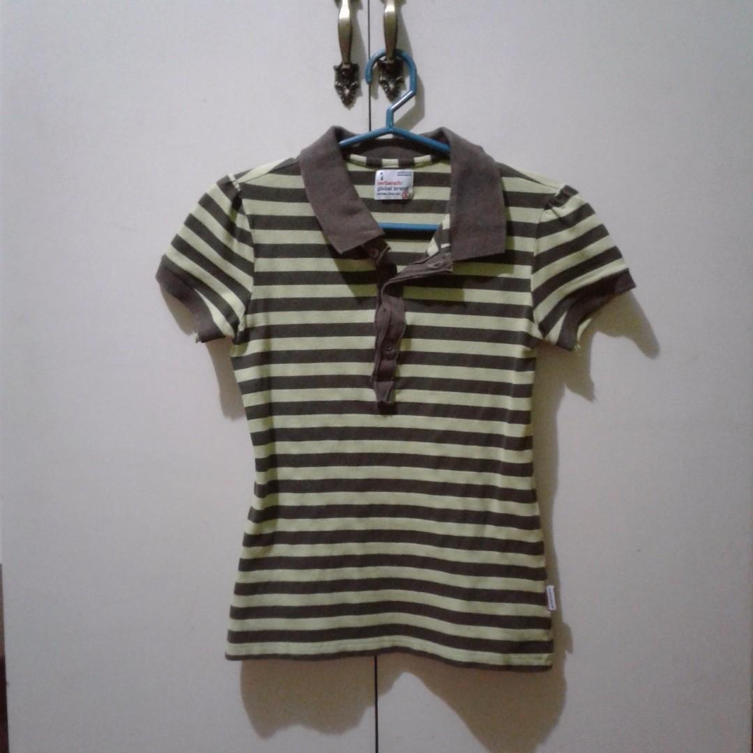 HERBENCH Striped Polo Shirt