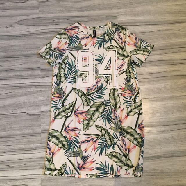 H&M midi t-shirt tropical