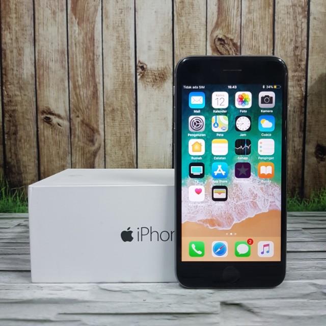 IPhone 6 16GB Gray Muluss kumplit ori ex inter harga mahasiswa ( ITC cempaka mas )