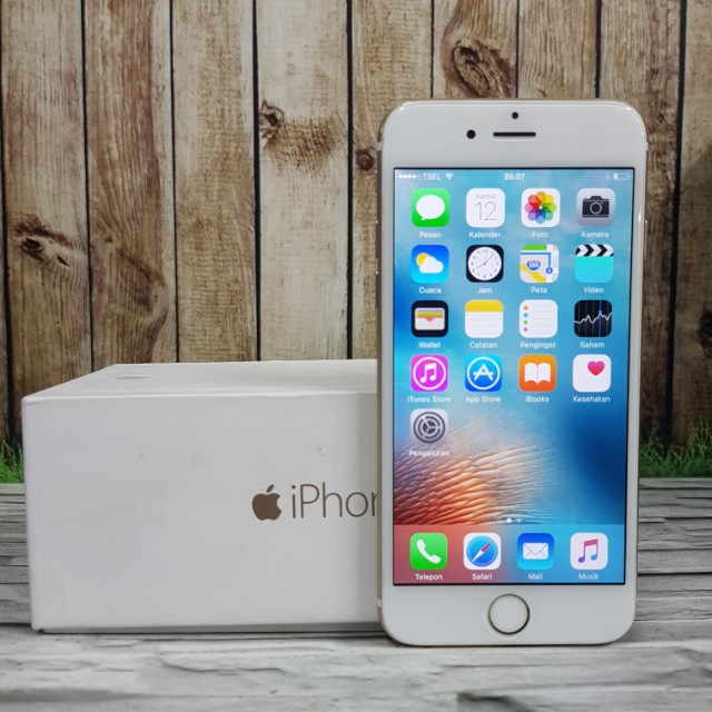 iPhone 6 64gb Gold minus lecet pemakaian murmer fullset ex singapore ZP ( ITC Cempaka mas )