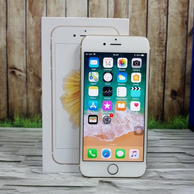 IPhone 6s 32Gb Gold mulusss pemakaian 3 bulan masih garansi inter july 2018 ( ITC cempaka Mas )