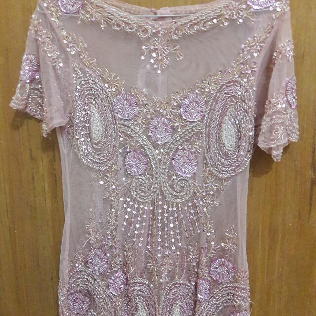 Kebaya Payet Soft Pink