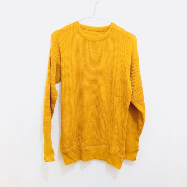 Knit Sweater Mustard