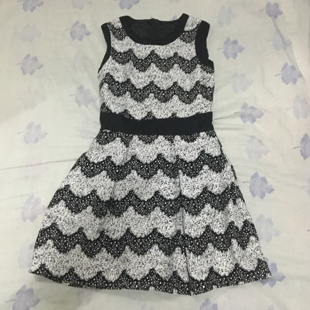 Korean Printed A-Line Dress