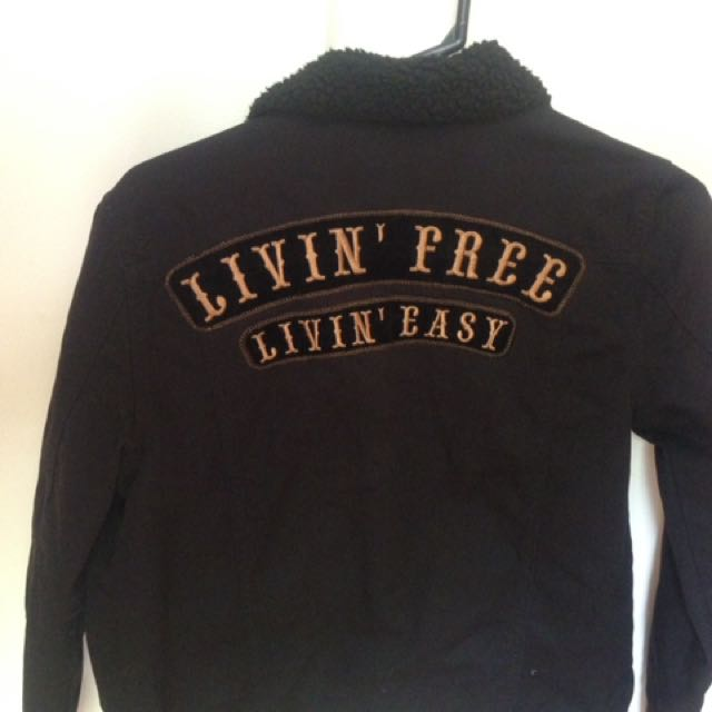Living free living easy jean jacket