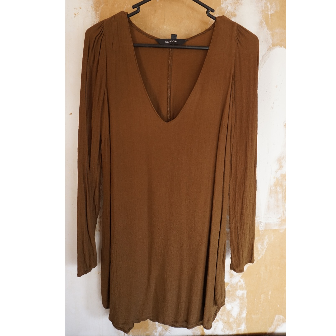 Long Brown Dress from Glassons, Size 6/8