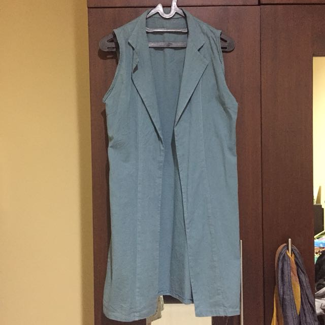 Long Vest (Blue Turqoise)