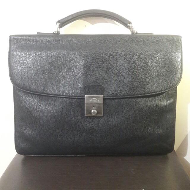 Longchamp Bally Ferragamo Gucci Tumi Coach Prada Leather Briefcase Portfolio Case for Men