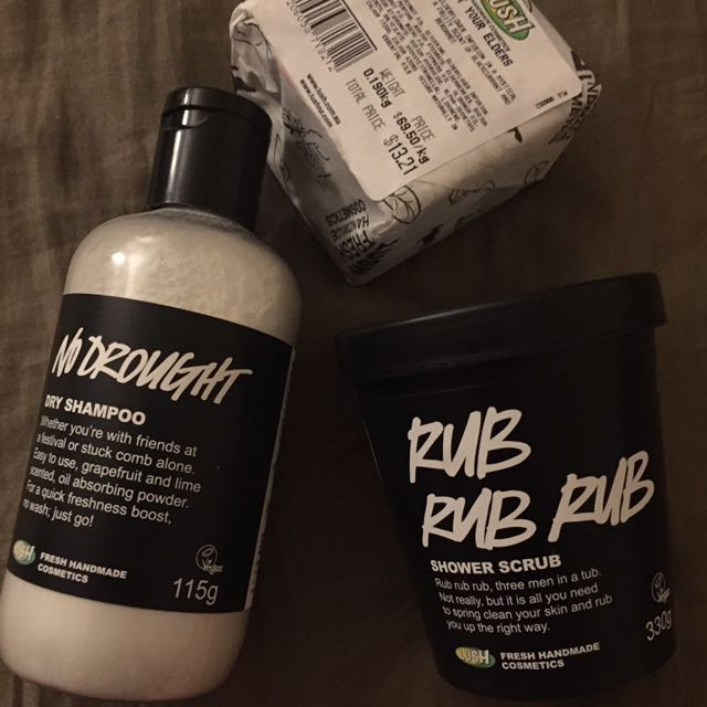 LUSH body products