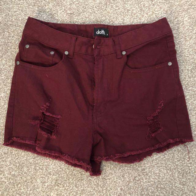 Maroon Shorts (Dotti)