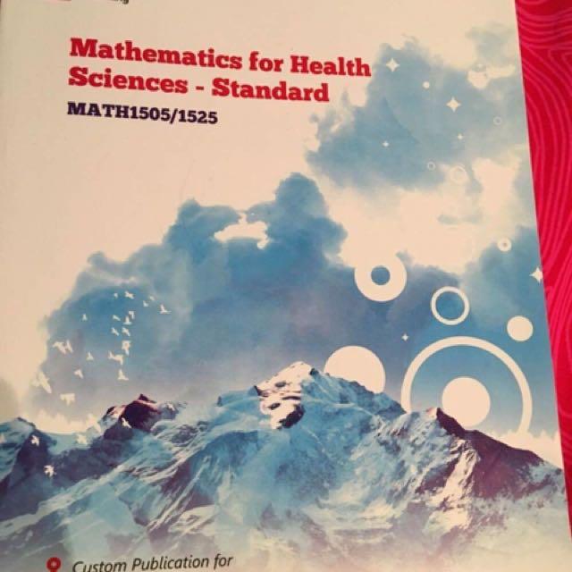 Mathematics for Health Sciences - MATH1505/1525