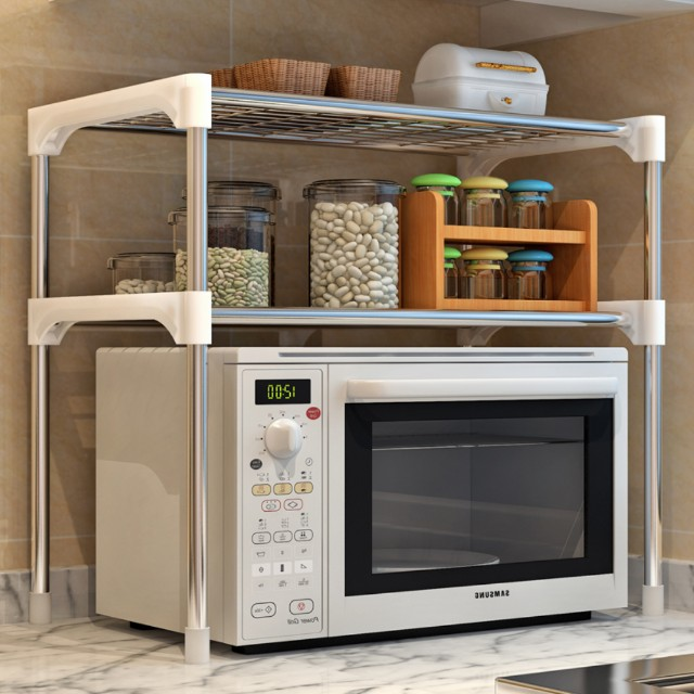 Microwave two level rack