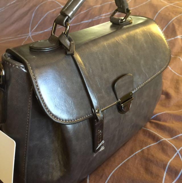 (mizzue)灰咖啡 手提 側背包 可換物