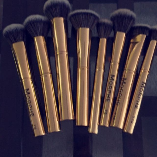 Morphe gilded collection makeup brushes