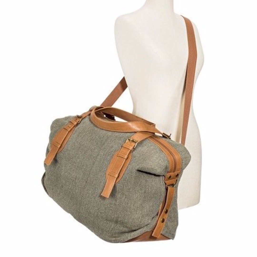 Mossimo Supply Co. Target Olive Canvas Weekender Handbag